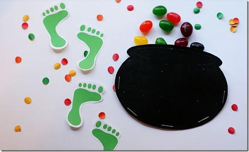 picture regarding Leprechaun Feet Printable named St. Patricks Working day Scavenger Hunt far better collectively