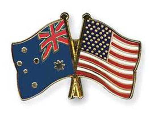 Australia America flags