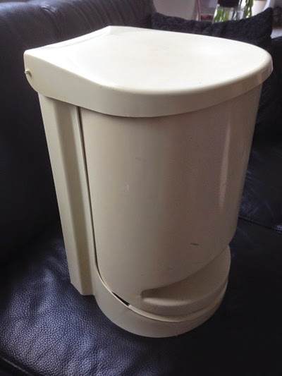 white Kartell waste bin side
