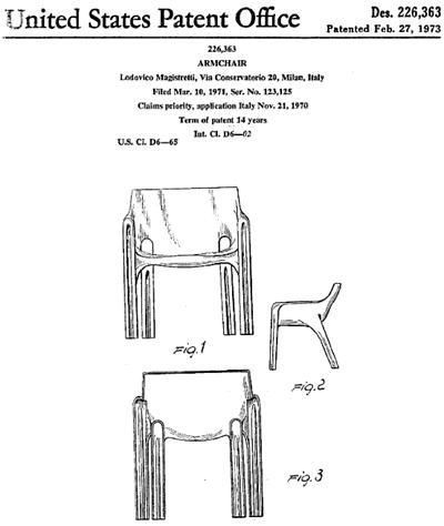 Gaudi armchair US Patent