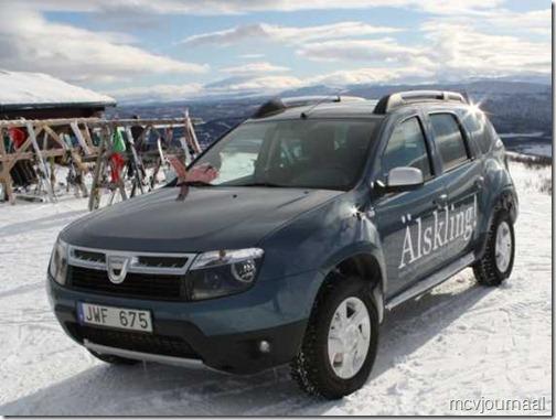 Dacia Duster in de winter 03