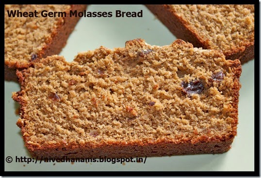 Wheat Germ and Molasses Bread - IMG_3505