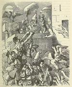 El Capitolio salvado por el graznido de los gansos. The Comic History of Rome, Gilbert Abbott A. Beckett.