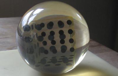 Enzo Mari Deformazione ottico-dinamica di un cubo in una sfera sculpture