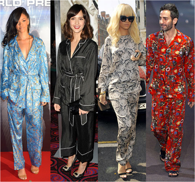 famosos com a moda pijama