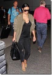 Kim Kardashian Returns Los Angeles
