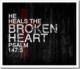 God heals the broken heart