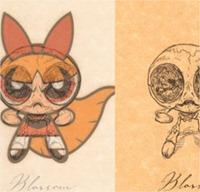 Así sería el esqueleto de algunos personajes de caricaturas