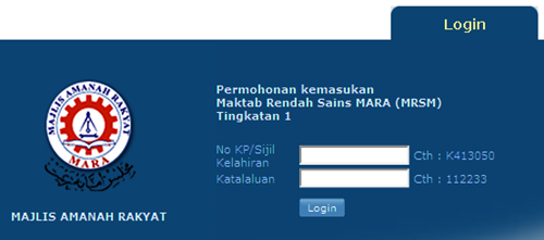 permohonan tingkatan 1 MRSM