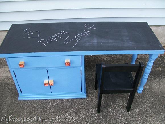 kids chalkboard desk