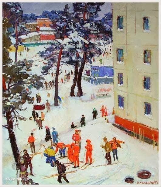 Басанец Валерий Лукич (Украина, 1941) «Выходной» 1971