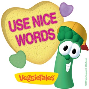 our village is a little different lettuce love one another by using nice words veggietales
