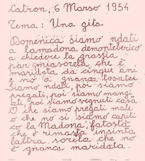 lettera 1954