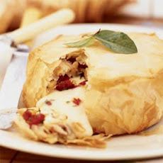 Filo-wrapped Brie