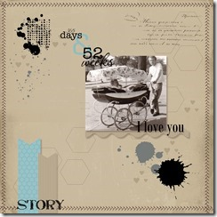 Scrapbook layout 1-001