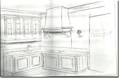 sketch of kitchen