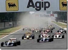La partenza del gran premio del Messico 1992