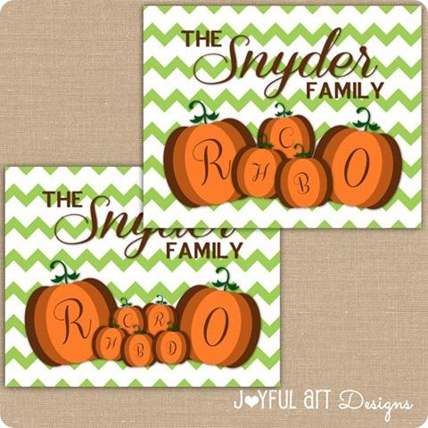 ETSY multiple pumpkins