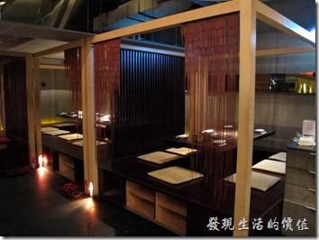 台北-三四味屋的包廂景色。