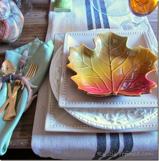 Fall Tablescape with Rustic Touches