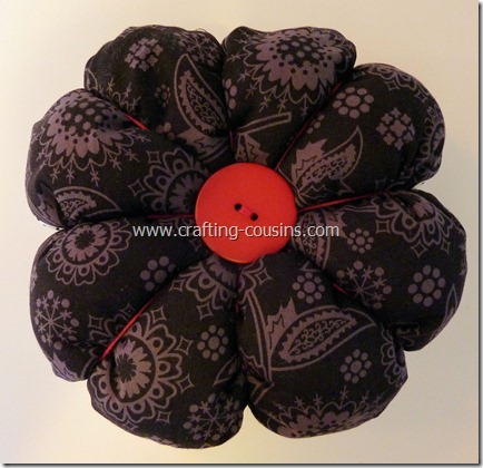Sew your own flower pincushion tutorial from the Crafty Cousins (38)