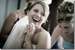 smiley bride
