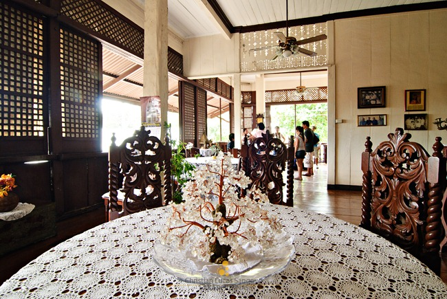 Crystal Ornament on the Goco Ancestral House Dining Table