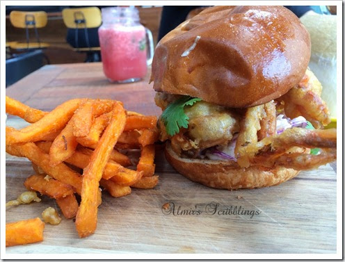 soft shell crab burger in jibby n co