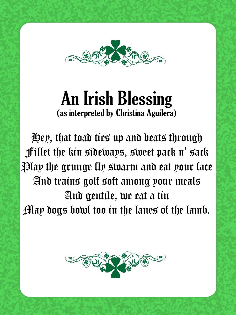an old irish blessing - Quotes links