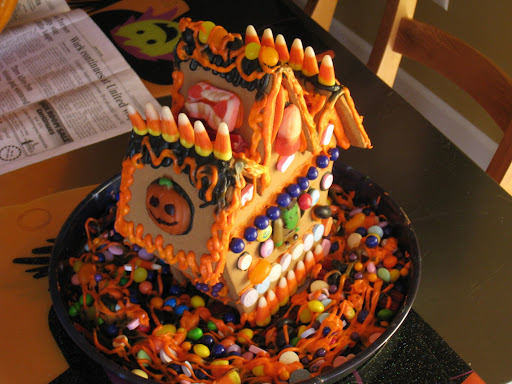 The Halloween candy house.