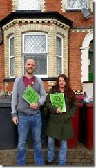 Josh and Kizzi campaigning on housing issues in Redlands
