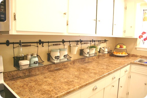 Your little things make a big difference from thrifty Ikea hanging kitchen storage
