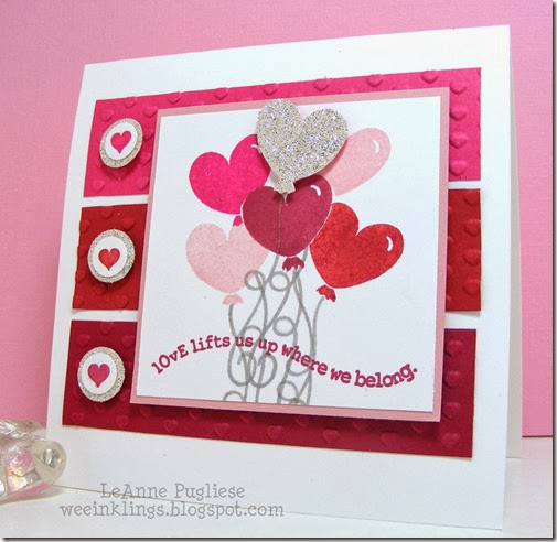 LeAnne Pugliese WeeInklings ColourQ227 Valentine Stampin Card