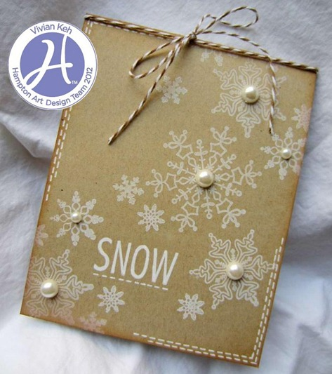 kraft snowflake hampton art vivian keh