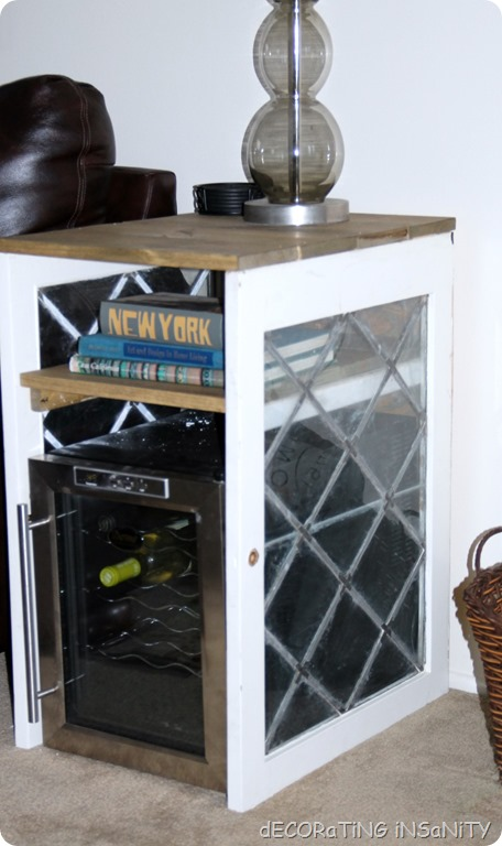 wine fridge table