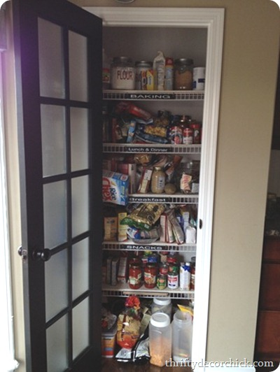 An organized pantry from thrifty decor chick over the years i realized something big about myself that kind of changed my pantry world i always felt like we needed to have a ton of solutioingenieria Choice Image