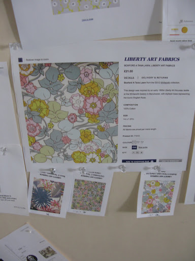 A few Liberty of London pattern options. They have such great fabrics!