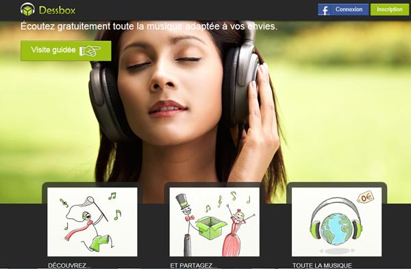 DessBox, du streaming de musique gratuit, illimité