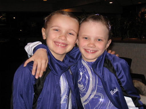 Broklyn and Natalie smile before compitition