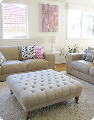 Five Days 5 Ways: DIY Tufted Ottoman