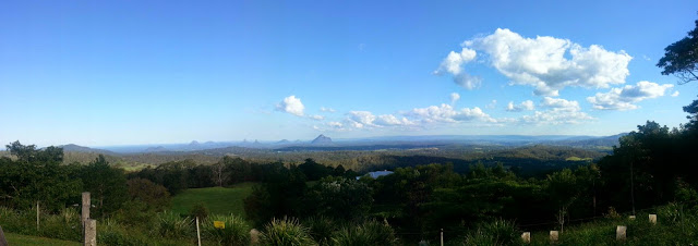 glasshouse mountains view