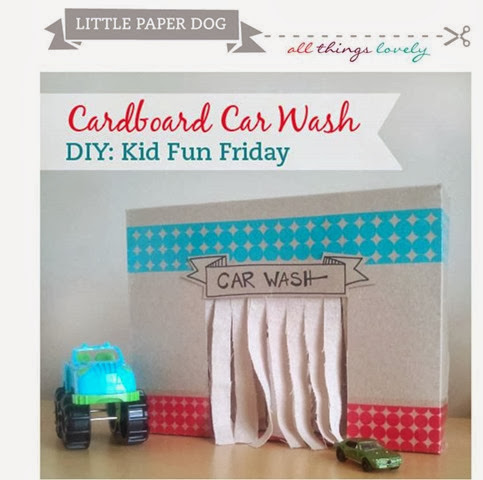 Little Paper Dog All things lovely cardboard car wash DIY Tutorial apartment therapy