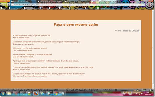 Página no Firefox
