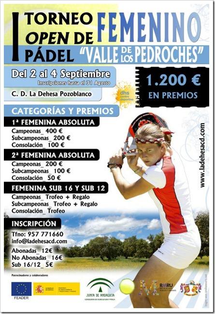 """I Torneo de Pádel Femenino """"Valle de los Pedroches"""" en el C.D. La Dehesa Pozoblanco."""