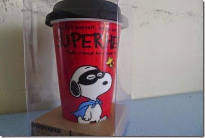 Superhero Snoopy typo Mug