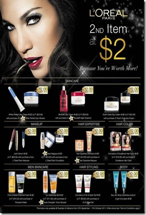 L'Oreal 2nd item $2