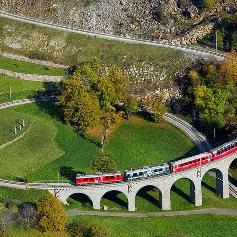 Brusio Spiral Viaduct in Switzerland