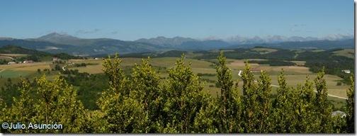 Panorámica de los Pirineos - monte San Miguel - Abaurrea Alta