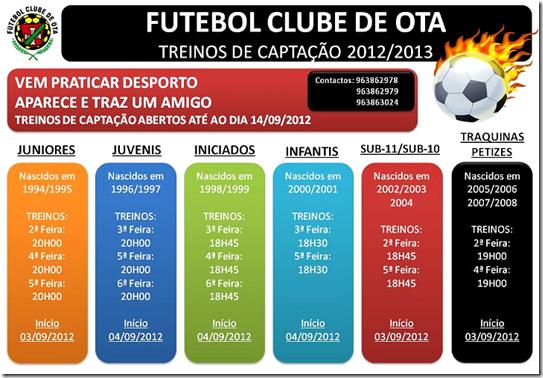 FCO - Treinos Captação 2012-2013