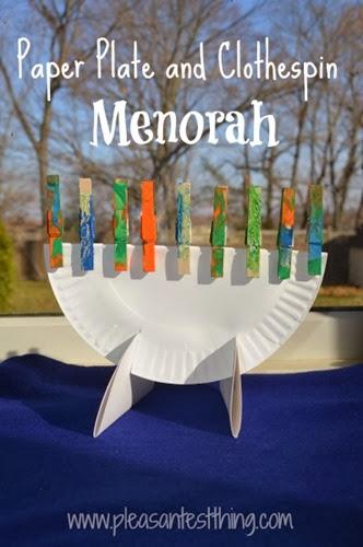 paper plate menorah